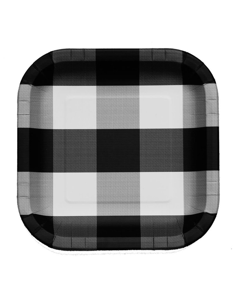 ***Black and White Classic 9in Square Plate