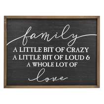 ***Family A Whole Lot of Love Wall Plaque