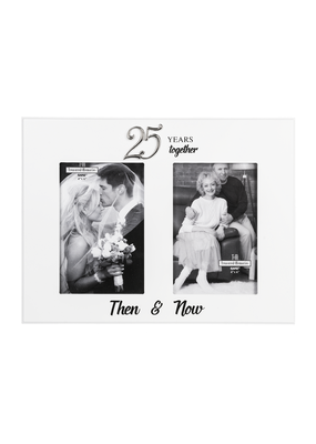 ***25th Anniversary Then & Now Photo Frame