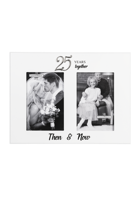 ****25th Anniversary Then & Now Photo Frame