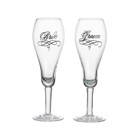 ***Bride & Groom Toasting Glasses