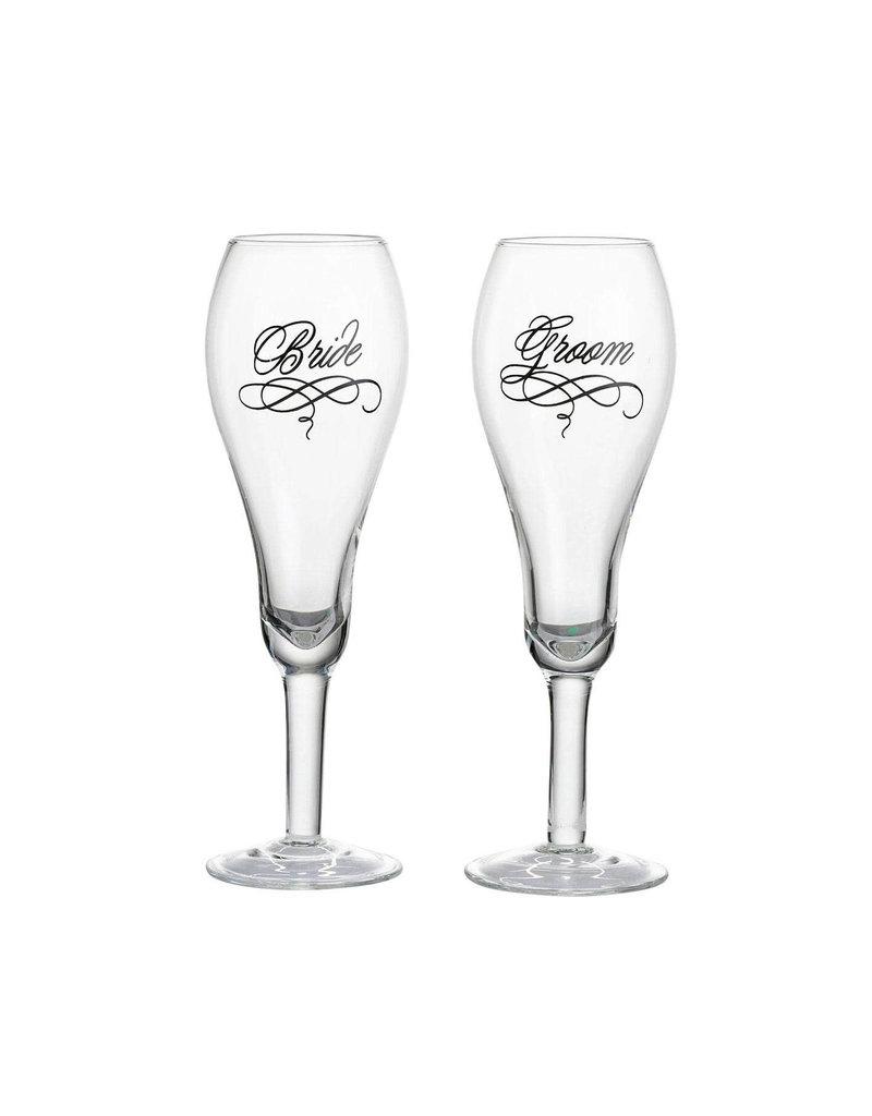 ***Bride & Groom Toasting Glasses