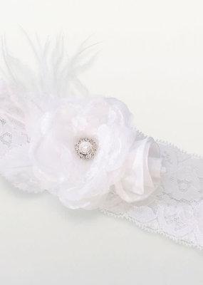 ***Vintage White Lace Garter