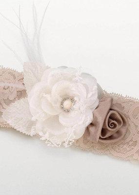 ***Vintage Taupe Lace Garter
