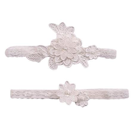 ***Off-White Flower Garter Set