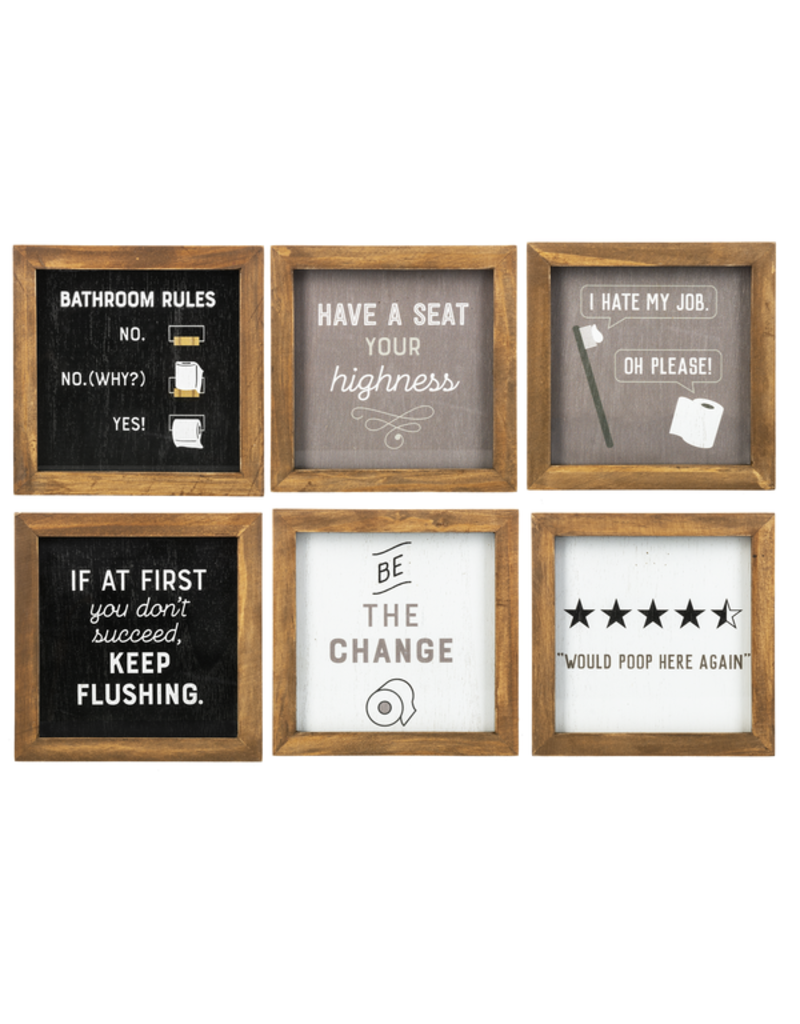 ***Funny Bathroom Framed Signs