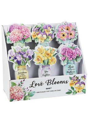 ***Love Blooms Flower Mini Plaques