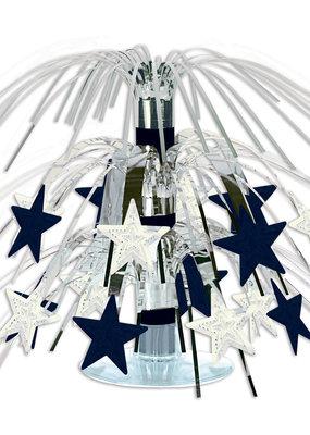 "***Star Mini Silver Cascade Centerpiece 7½"""