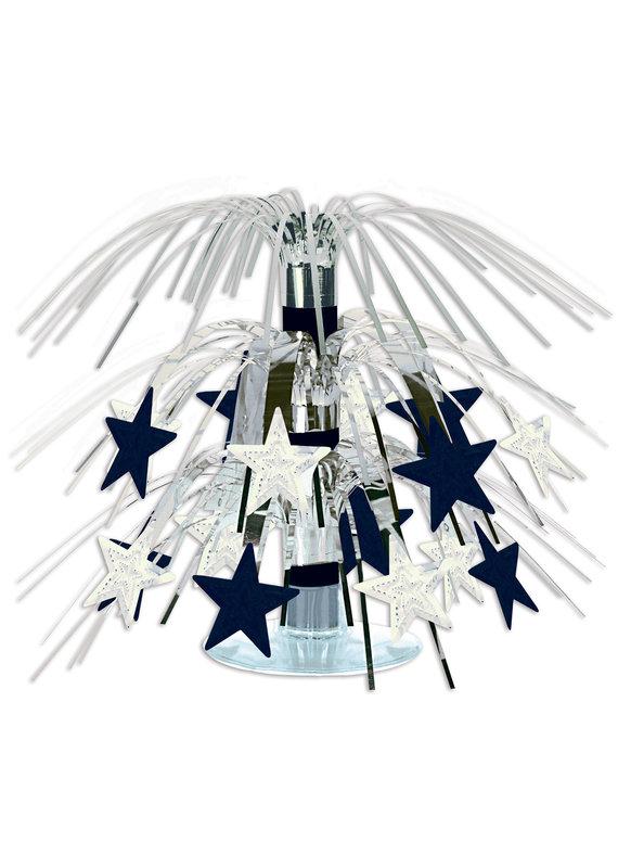 "****Star Mini Silver Cascade Centerpiece 7½"""