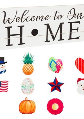 "***Interchangeable Wood Sign, ""Welcome To Our Home"""