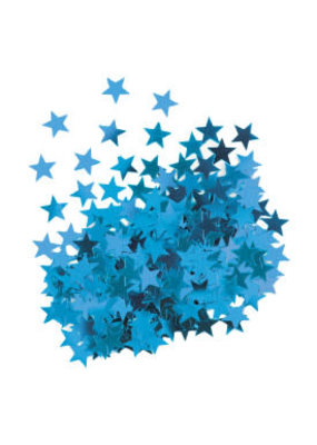 ***Metallic Blue Stars Confetti .5oz Bag