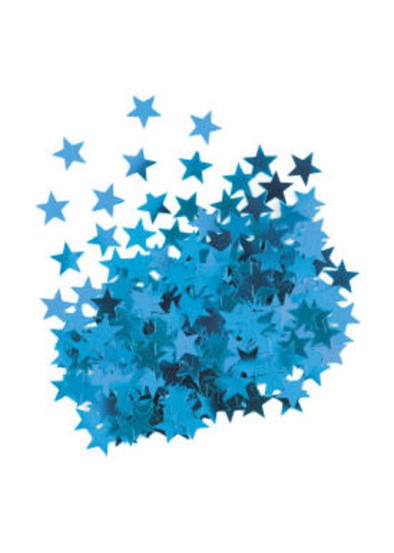****Metallic Blue Stars Confetti .5oz Bag