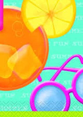 ***Pool Party Beverage Napkins 16ct