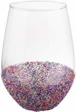 ***Sprinkles Stemless Wine Glass 30oz