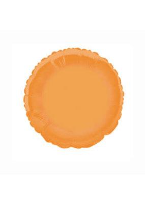 Orange Round Foil Mylar Balloon