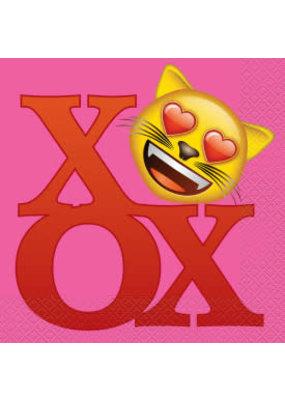 ***Valentine Emoji Lunch Napkins 16ct