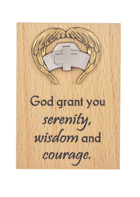 "***Mini Desk Plaque ""God grant you serenity, wisdom and courage"""