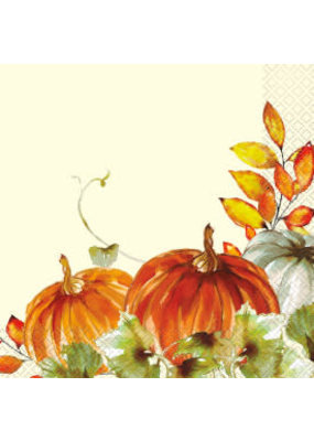 ***Watercolor Fall Pumpkins Lunch Napkins 16ct