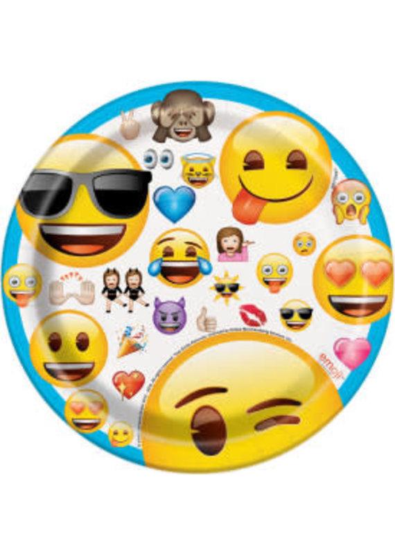 "****Emoji 7"" Dessert Plates 8ct"