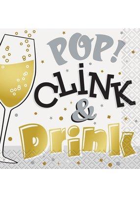 ****Pop, Clink & Drink Beverage Napkins 16ct