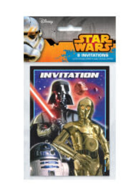 ***Star Wars Invitations 8ct