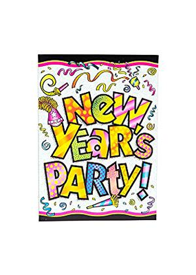 ***New Years Pizzaz Invitations 8ct