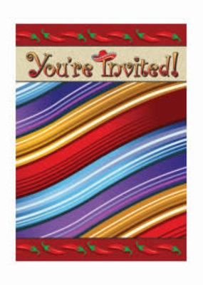 ***Fiesta Serape Invitations 8ct