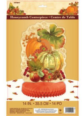 "***Pumpkin Harvest 14"" Honeycomb Centerpiece"
