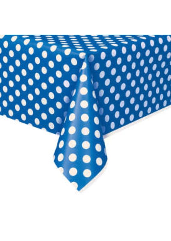 ****Royal Blue Polka Dot Tablecover