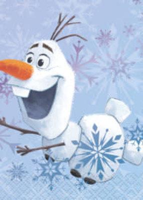 ***Frozen 2 Olaf Beverage Napkins 16ct