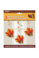 ***Fall Leaves Hanging Decorations 3ct