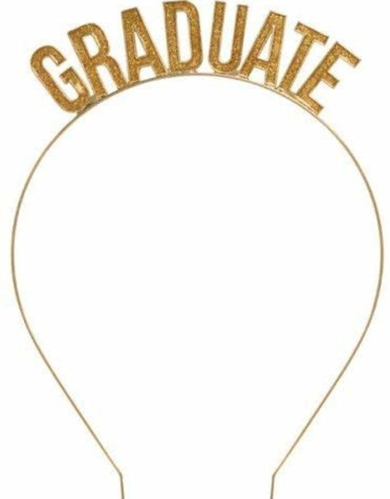 ***Graduate Gold Glitter Headband