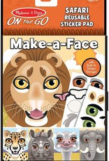 ***Make a Face Safari Reusable Sticker Pad