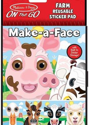 ***Make a Face Farm Reusable Sticker Pad