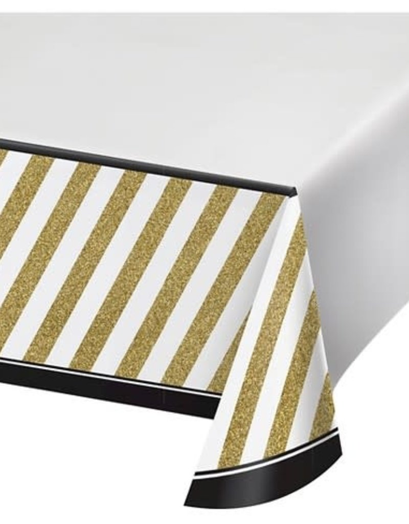 ***Black & Gold Creative Converting Tablecover