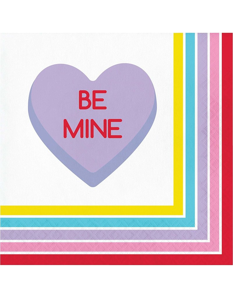 ***Candy Hearts Lunch Napkins 16ct