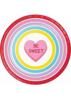 "***Candy Hearts 9"" Dinner Plates 8ct"