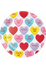"""***Candy Hearts 7"""" Dessert Plates 8ct"""