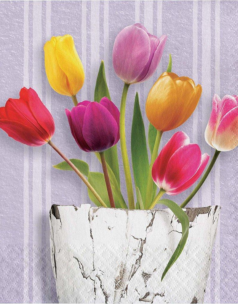 ***Springtime Tulips Lunch Napkins 16ct