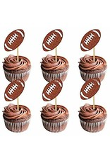 ***Glitter Football Party Picks 12ct.