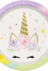 ***Unicorn Face 9in Plate