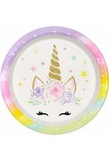 ***Unicorn Face 9in Plate