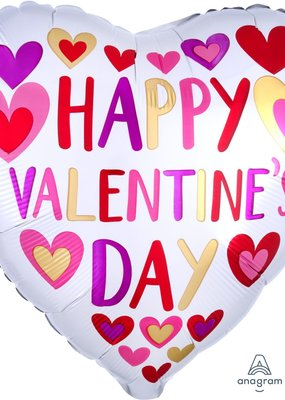 ***Happy Valentine's Day Hearts Mylar Balloon