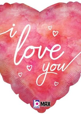 ***I Love You Watercolor Mylar Balloon