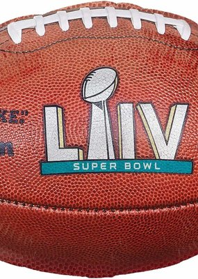 "***Superbowl 54 18"" Football Shape Mylar Balloon"