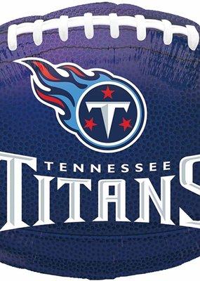 ***Tennessee Titans NFL Football Shaped Mylar Balloon