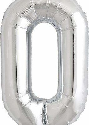 North Star ***Air Filled Silver Letter O Mylar Balloon