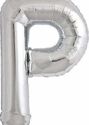 North Star ***Air Filled Silver Letter P Mylar Balloon