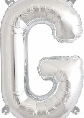 North Star ***Air Filled Silver Letter G Mylar Balloon