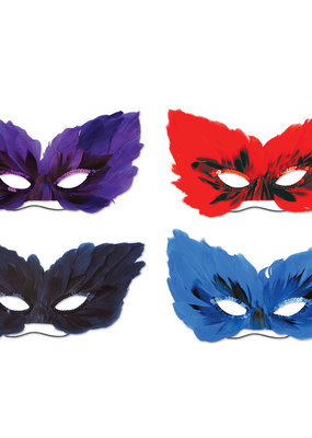 ***Feather Masks 4ct